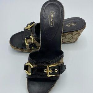 Coach Signature Jewel Wedge Sandals